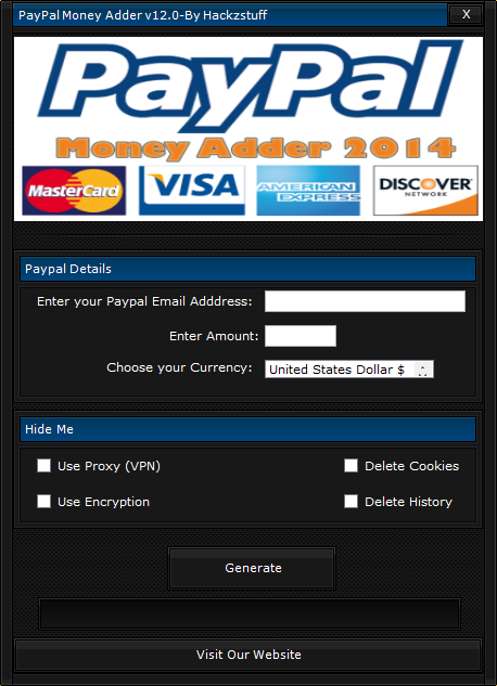 DOWNLOAD - paypal and payza money adder